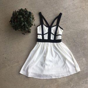 GB white and Black Dress
